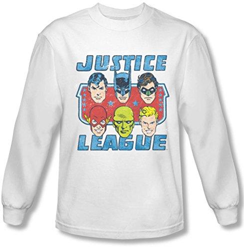Dc-, facce di giustizia-Maglietta a maniche lunghe Bianco