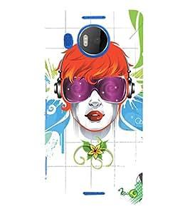 EPICCASE cool girl Mobile Back Case Cover For Microsoft Lumia 950 XL (Designer Case)