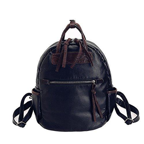 Colore puro dual borse a tracolla di studenti' schoolbags zaino per il tempo libero, spalle il pacchetto B C