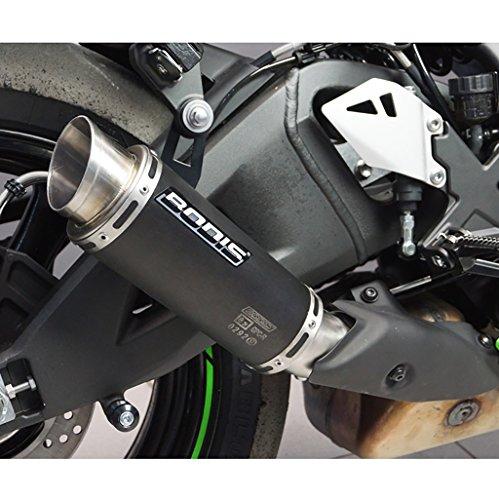 Auspuff Bodis GPC-R Slip-On Edelstahl schwarz Kawasaki ZX-10R Ninja ABS ZXT00S