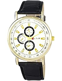 Addic Bold & Beautiful Black & Gold Women's Watch