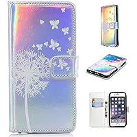 Nadoli Handytasche für iPhone 8 Plus (5.5 Zoll),PU Leder Klapphülle Laser Handyhülle Brieftasche Schale Etui für... preisvergleich bei billige-tabletten.eu