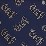 GLOW Metallic Oh! Jersey Foliendruck GOTS - marineblau/gold