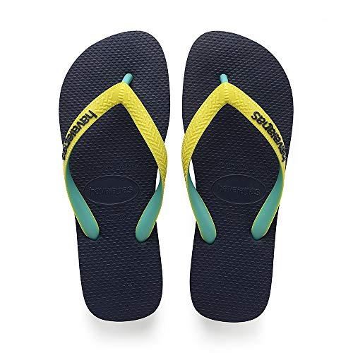 Havaianas Top Mix, Infradito Unisex Bambini, Multicolore (Navy/Neon Yellow 0821), 33/34 EU
