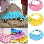 shree krishna New Adjustable Safe Soft Bathing Baby Shower Cap Wash Hair for Children Kitchen Point Baby Eye Ear...