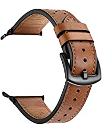 ZEIGER 42MM Brown Genuine Leather Watch Strap for Apple Watch