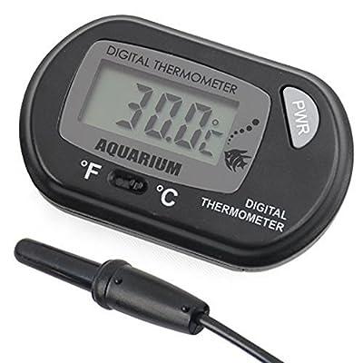 DaoRier LCD Digitales Wasser Thermometer für Terrarium Aquarium Vivarium -50~+70?