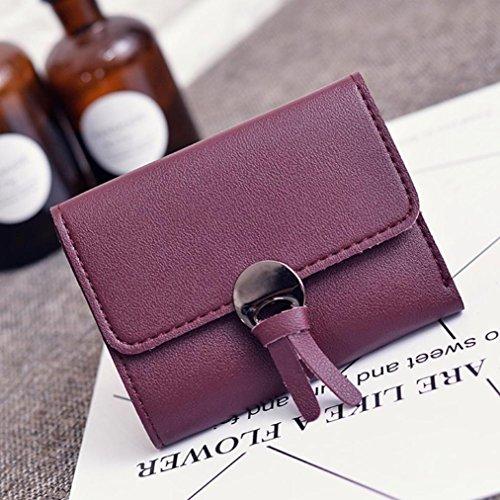 Portafoglio Donna, Tpulling Donna uso quotidiano delle frizioni borsa portafogli borsa della borsa della frizione di qualità (Red) Red