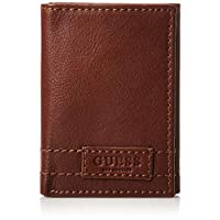 GUESS Men's Trifold Wallet, Brown - 31GUE11028