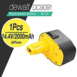 AKPower® Replacement Dewalt 14.4v XR 2.0Ah Dewalt DE9091 Battery Pack,Battery for DeWALT DE9091 DW935 DE9094 DE9092 DE9502 DC735KA