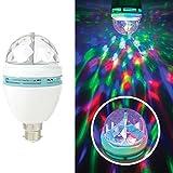 3W LED Disco Party Light Bulb B22 BC Bayonet Home Room Decoration Multi Colour Rotating Lighting Effect Stage Xmas Party Festive Club DJ Disco Dance