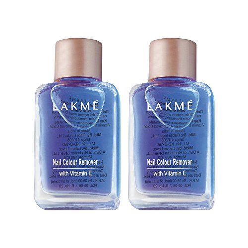 Lakme Nail Color Remover, 27ml (Pack of 2)