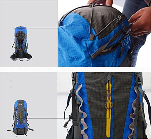 Im Freienberg Taschen 70L Rucksack Männer und Frauen wandern reisen Schulter wasserdicht Camping Rucksack Sport Grün