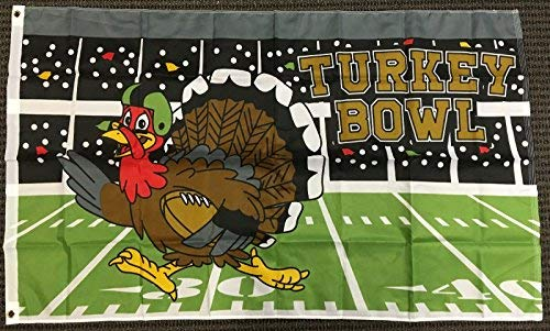 urkey Bowl Football Flag Happy Thanksgivings Holiday Outdoor Banner Pennant ()