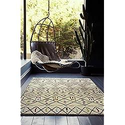 KadimaDesign alfombras Modernas del diseñador de alfombras marroquíes amist 240 x 340 cm AM006 Multicolor 100% de Lana