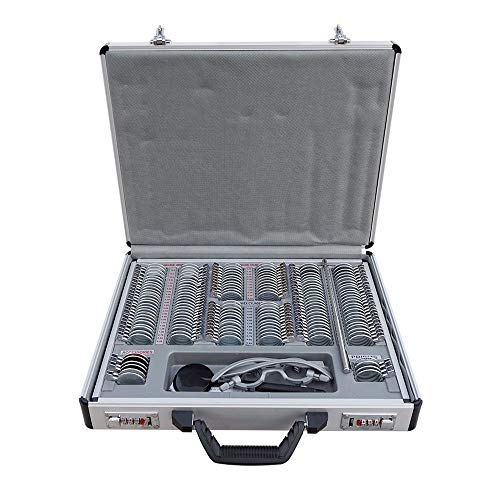 S SMAUTOP 158 Optisches Testlinsenset, Brillenoptometrie Emetal Ring Aluminium und Free Trial Frame