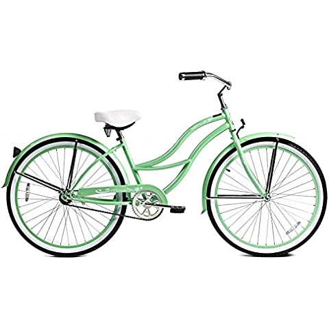 J Bikes by Micargi Tahiti 26 1-Speed Women's Beach Cruiser Bicycle Bike Mint Green by Micargi