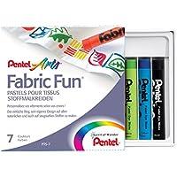 Pentel PTS Pastelli per Tessuti Fabric Fun confezione 7 colori