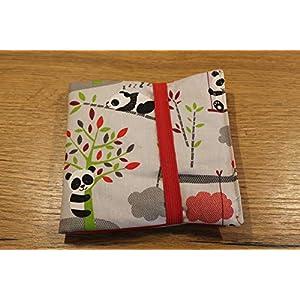 CD Etui für 24 CD´s oder Pxibücher Pixibuchhülle CD Wallet CD Hülle handmade Panda Bären