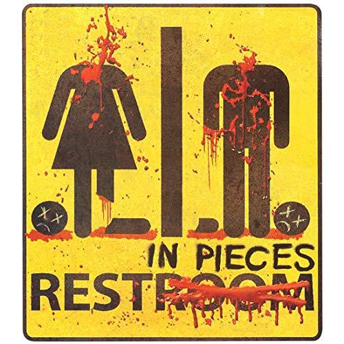 -Schild Halloween   29 x 32 cm   Originelle Party-Dekoration Toiletten-Piktogramm Aufkleber   Perfekt geeignet für Horror-Party & Gruselparty ()