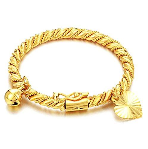Adisaer Armband Edelstahl Kugeln Armband Männer Gold Herz Kugel Cuff Armband Gold Neue Jahr 10G 11Cm Antiverfärben Armbänder Für Männer