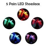 5x LED Schnürsenkel, 2win2buy Leuchtende Schuhbänder 5 Farben 3 Lichtmodi...