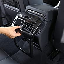Carbon Fiber Style ABS plastica accessori posteriore fila Air Conditioning Vent Outlet Frame cover Trim