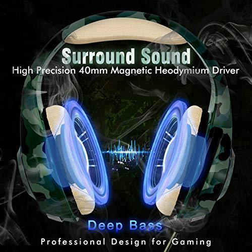 Auriculares Gaming para PS4 Xbox One Nintendo Switch,  Beexcellent GM- 100 Cascos Gaming con Sonido Envolvente y Reducción de Ruido. La Disfruta de Lujo del Sonido Nítido
