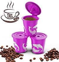 PureJava Reusable K Cups for Keurig 2.0 And 1.0 Brewers - Set of Three Refillable K Cups With Our Coffee Recipe eBook Included!