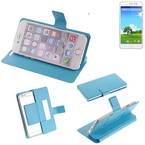 K-S-Trade Flipcover für Bestore Star Note 5 N5D N9200 Schutz Hülle Schutzhülle Flip Cover Handy case Smartphone Handyhülle blau