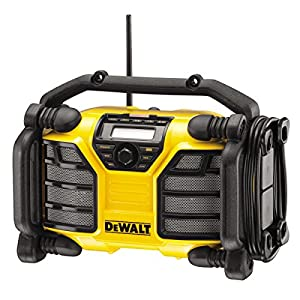 DEWALT DCR017-QW DCR017 Site Radio with Charger Function XR-Li-Ion Battery or Mains Operated, 230 V