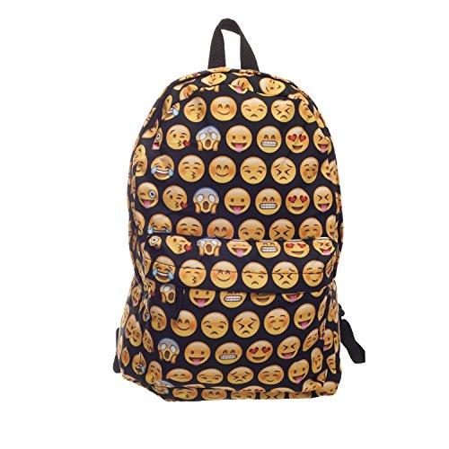 Imagen de para hombre de la mujer niños niñas  escuela  viaje equipaje de mano cabina bolsa de deporte multicolor emoji black h42 x l31 x w21 cm