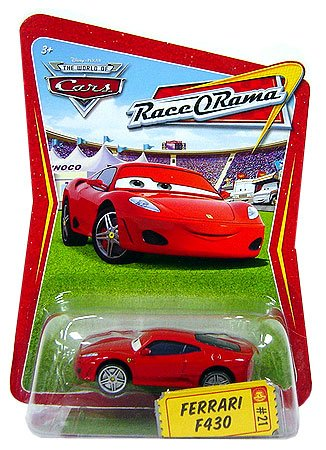 Disney-Pixar-CARS-THE-WORLD-OF-CARS-Die-Cast-RACE-O-RAMA-FERRARI-F430-21-mit-ONLINE-CODE-OVP