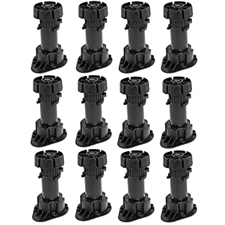 MEGA Pack of 12pcs. LEGS + CLIPS Adjustable Height Plastic Cabinet Cupboard for Kitchen with PLINTH/ KICK BOARD CLIPS with attaching bracket