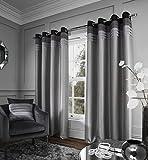 Catherine Lansfield Chicago–Cortina de confección con ollaos, gris, 66x (