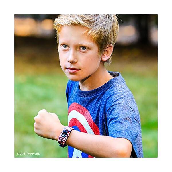 Garmin Vívofit Jr. 2 - Monitor de actividad para niños, Captain America (Banda elástica), Edad 6+ 7