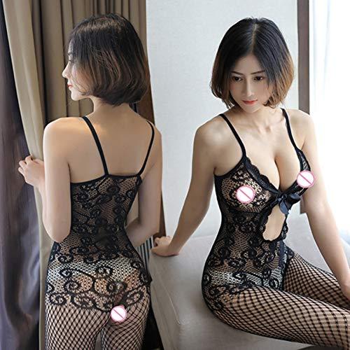 ZHAOZX Sexy Unterwäsche, Body, offene Netz-Bodystockings, Babydoll, sexy Unterwäsche Body Strümpfe Anzug