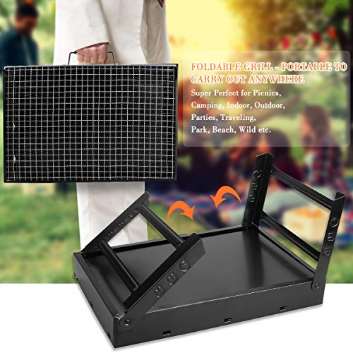 Zoom IMG-3 fixget barbecue grill carbone portatile