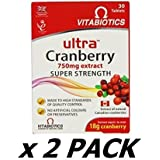 Ultra Cranberry Tablets - Pack Of 30 Tablets (Pack of 2)