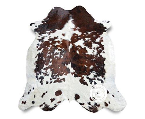 Teppich aus Kuhfell, Farbe: Tricolor, Größe circa 240 x 180 cm, Premium - Qualität von Pieles del Sol aus Spanien