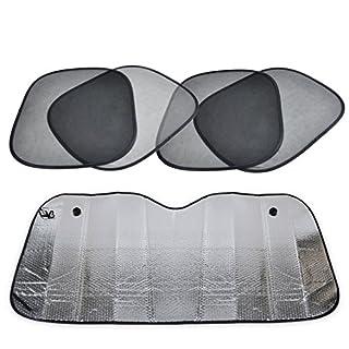 Packung mit 5 Faltbare Auto vorne hinten Windschutzscheibe Seitenfenster Sun Shade Screen Visor Shield Cover