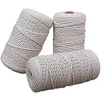 Healifty Corda di Iuta Naturale Intrecciata con Spago da 100 M per Fai da Te Opere dArte Artigianato Confezioni Regalo Tag Corde Gatto Albero Costruzione Giardinaggio