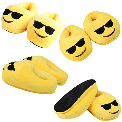 Emoticons Shit Plüsch, Emoji Winter Hausschuhe Cartoon Indoor Hause Pantoffeln Männer und Frauen Emoji Slippers 35-41 Gläser