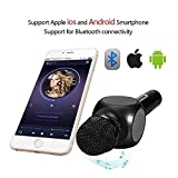 ESHISHANG Multi Magic Karaoke player Portable Wireless Bluetooth Microphone with Mic Speaker Condenser Fashion Home Mini Karaoke Player,KTV Singing Record for Apple Samsung iPhone Smart Phone (Noir)