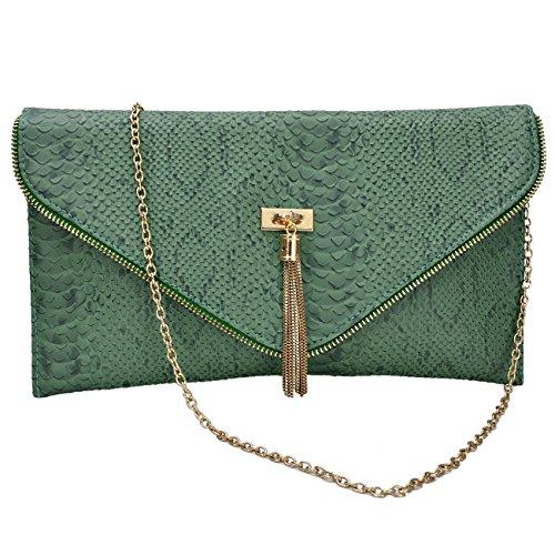 Womens intelligenter Tier Croc Druck Faux Leder Umschlag Handtaschen Geldbeutel (Croc Handtasche Faux)