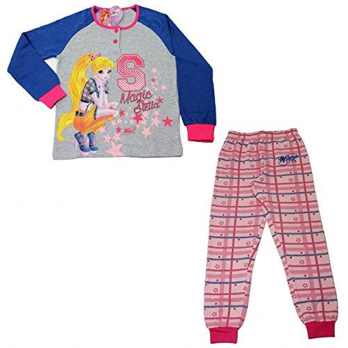 Pyjama bébé original Winx Club pur coton interlock TG 3–4-5–6-7ans 22065 Multicolore