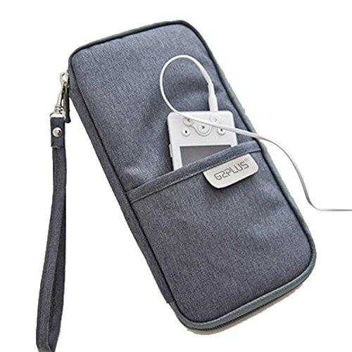 c7faecb2ef passaporto portafoglio da viaggio borsa durevole borsa portaoggetti  organizer con cerniera borsa in tela con cinghia da polso porta documenti  di credito, ...