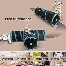 túnel de gato (3 vías). Túnel plegable para gatos de carretera, conejos para mascotas, gatos, gatos, juguetes, túnel, tubo para mascotas para conejos, gatitos, gatos grandes y perros