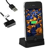 mumbi USB Dockingstation iPhone 4 4S Dock / Basisstation inkl. USB Datenkabel mit Line Out