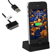 mumbi USB Station d?accueil iPhone 4 4S incl. USB câble avec sortie audio Line OUT